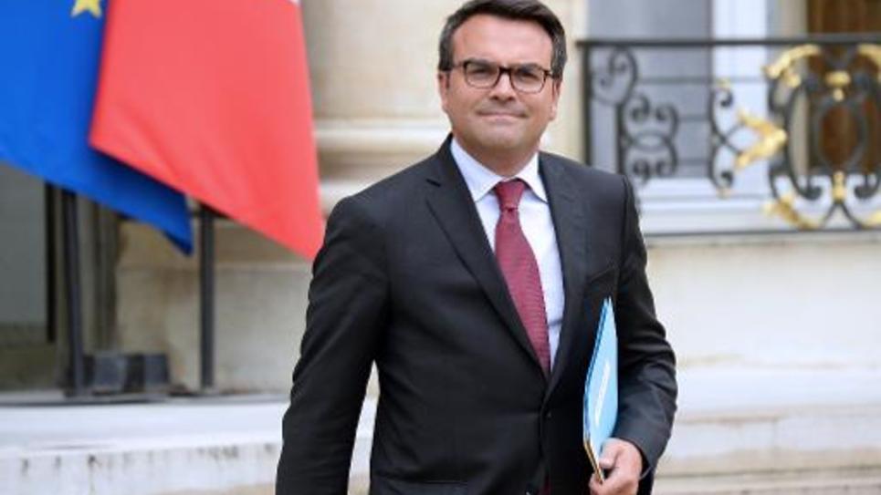 Thomas Thévenoud à la sortie de l'Elysée le 27 août 2014