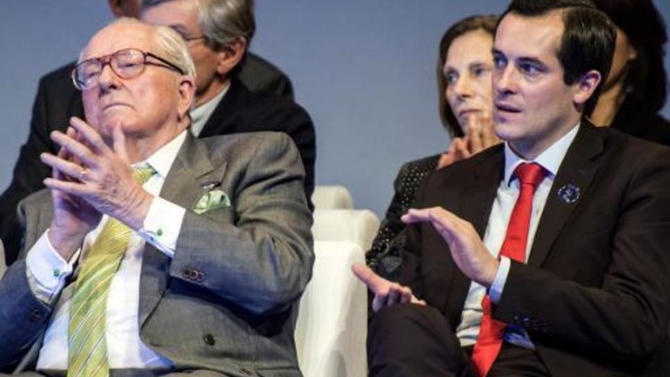 Jean-Marie Le Pen et Nicolas Bay le 30 novembre 2014 à Lyon