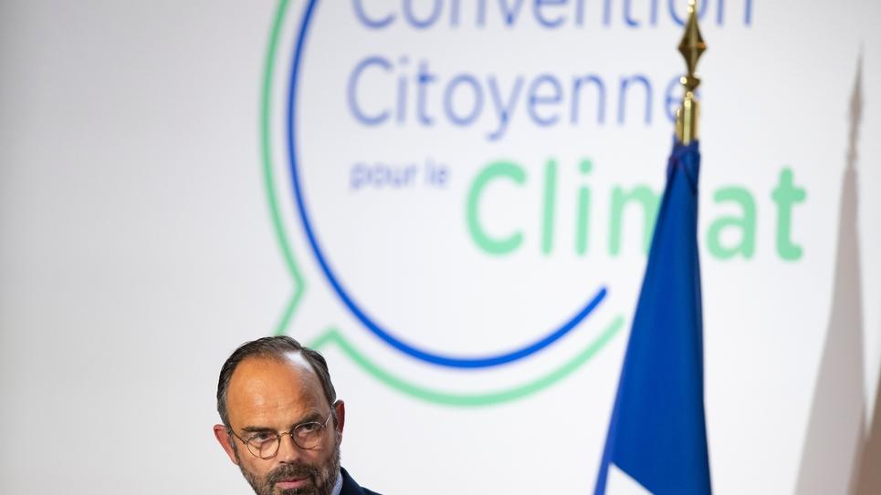 """LE Premier ministre Edouard Philippe lors du lancement de la """"Convention citoyenne pour le Climat"""", le 4 octobre 2019 à Paris"""