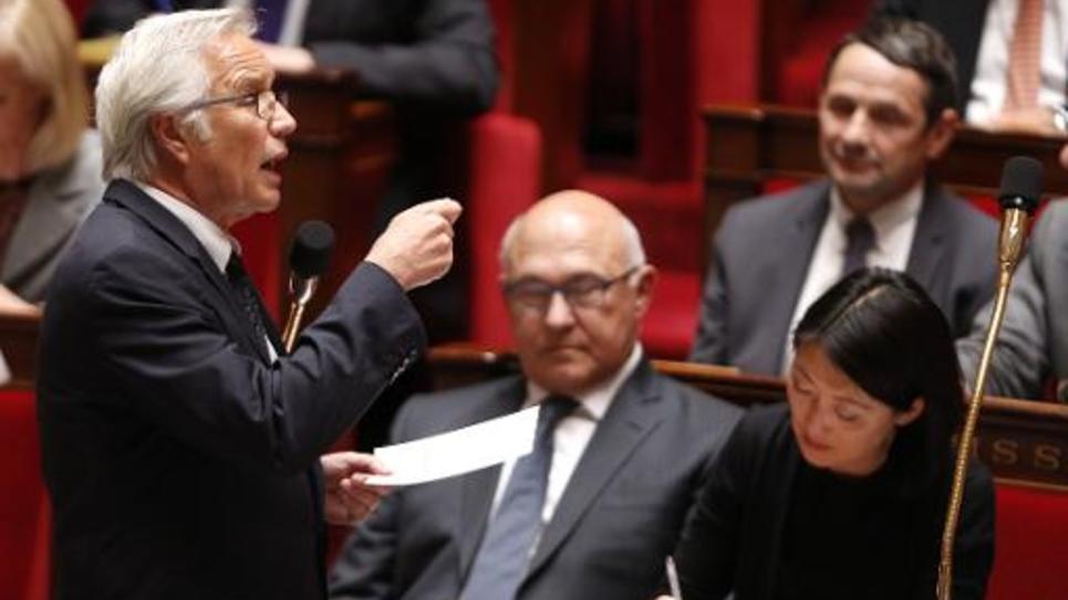 Le ministre du Travail Francois Rebsamen à l'Assemblée nationale le 27 mai 2015