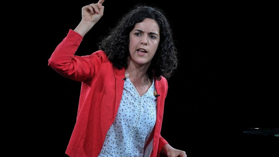 Manon Aubry, tête de liste LFI pour les élections européennes le 11 mai 2019 à Marseille