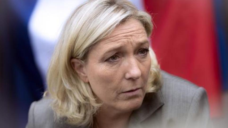Marine Le Pen le 14 septembre 2014 à Henin-Beaumont