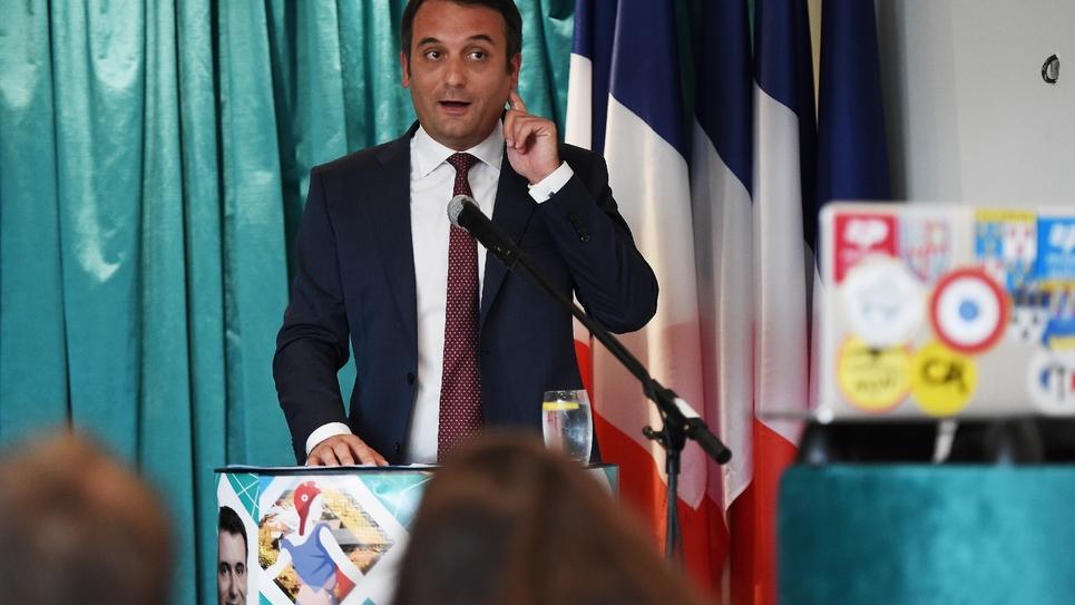 Le président des Patriotes Florian Philippot, à Forbach (Moselle) le 2 septembre 2018