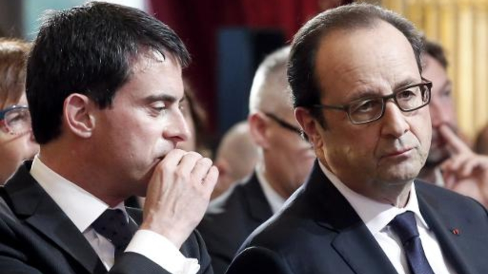 Manuel Valls et François Hollande le 27 novembre 2014 à l'Elysée, à Paris