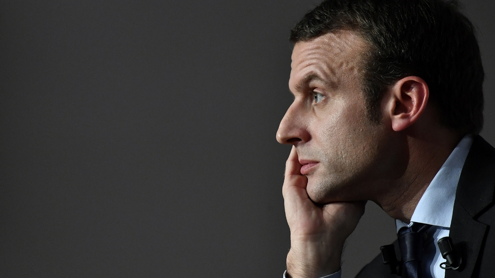 Emmanuel Macron, le 13 décembre 2016 à Talence, dans la banlieue de Bordeaux