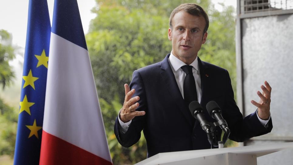 Emmanuel Macron le 27 septembre 2018 à Morne-Rouge, en Martinique