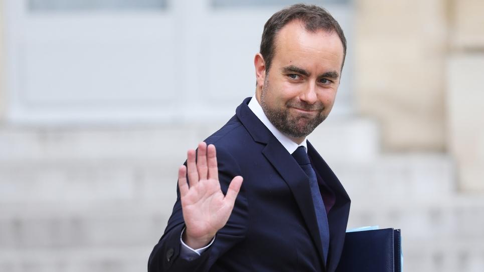 Le ministre chargé des Collectivités territoriales, Sebastien Lecornu, à l'Elysée le 28 août 2019