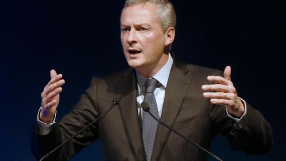 Le député UMP Bruno Le Maire lors d'un meeting le 27 novembre 2014 à Fréjus