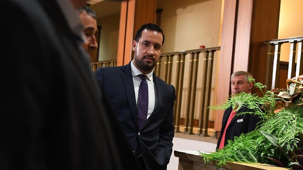 Alexandre Benalla après son audition devant la commission d'enquête du Sénat, le 19 septembre 2018 à Paris