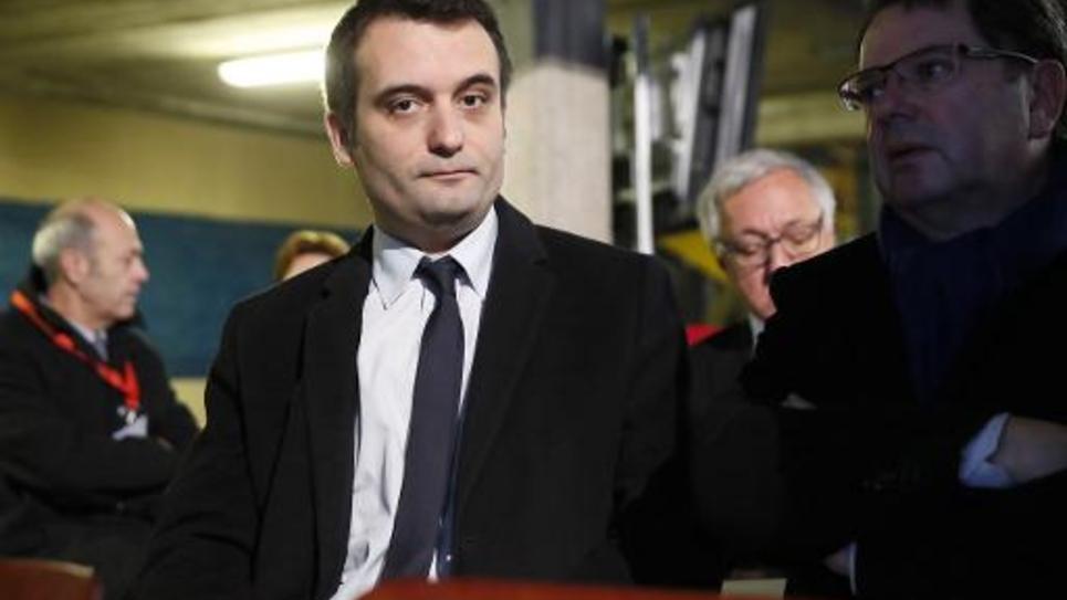 Florian Philippot, vice-président du Front National, le 24 novembre 2014 à Uckange