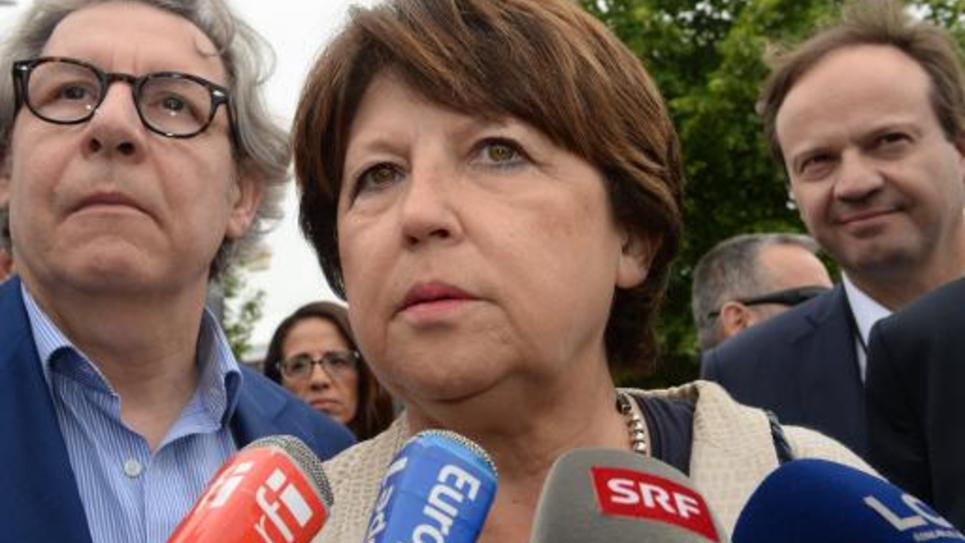 Martine Aubry le 6 juin 2015 à Poitiers