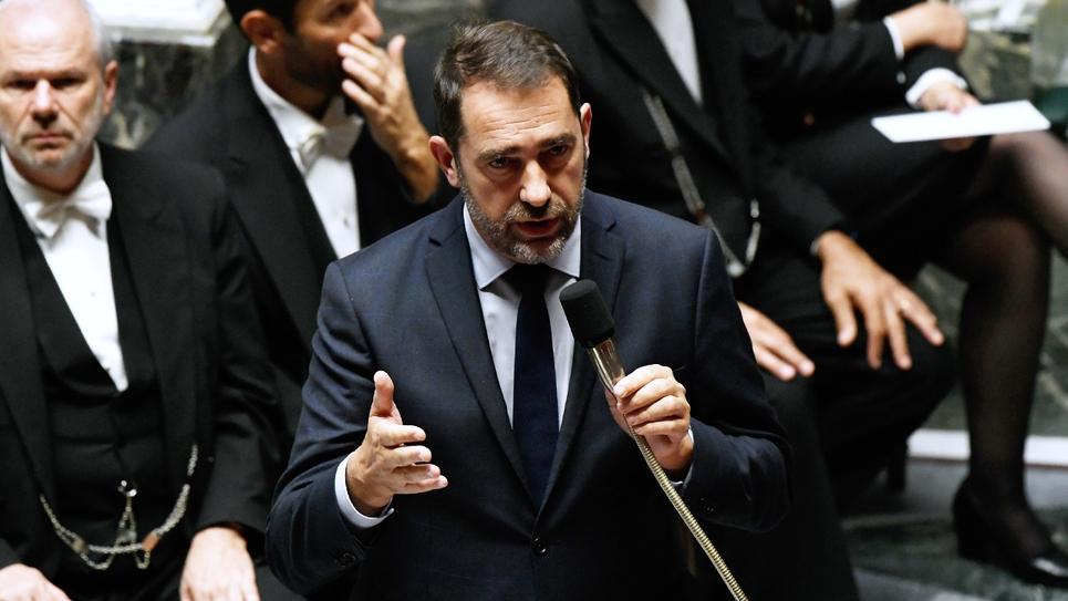 Le ministre de l'Intérieur Christophe Castaner pendant la séance des questions au gouvernement à l'Assemblée nationale à Paris, le 6 novembre 2018
