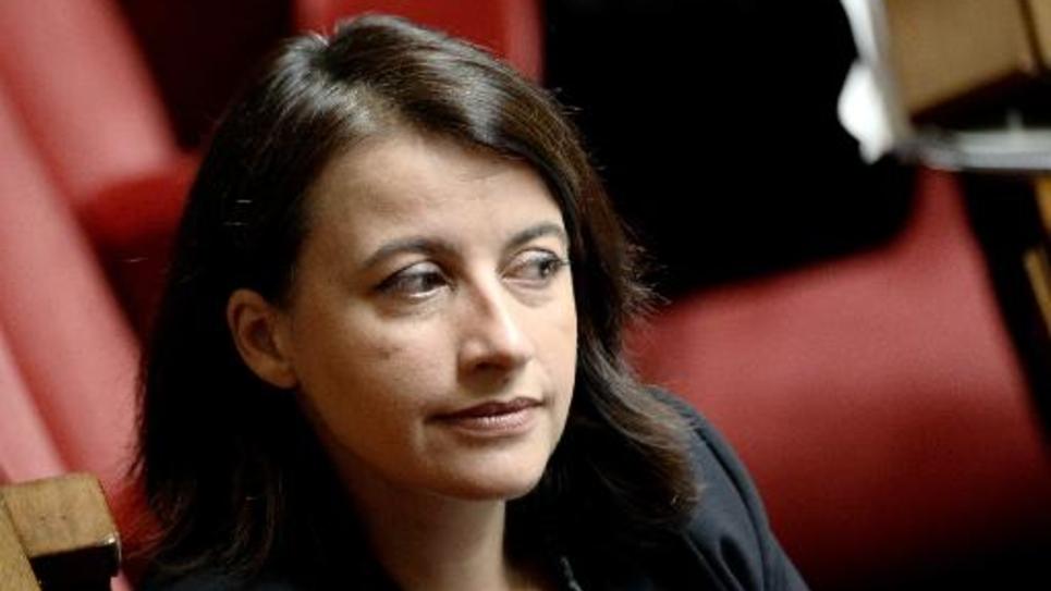 La député EELV Cécile Duflot à l'Assemblée Nationale, le 8 octobre 2014