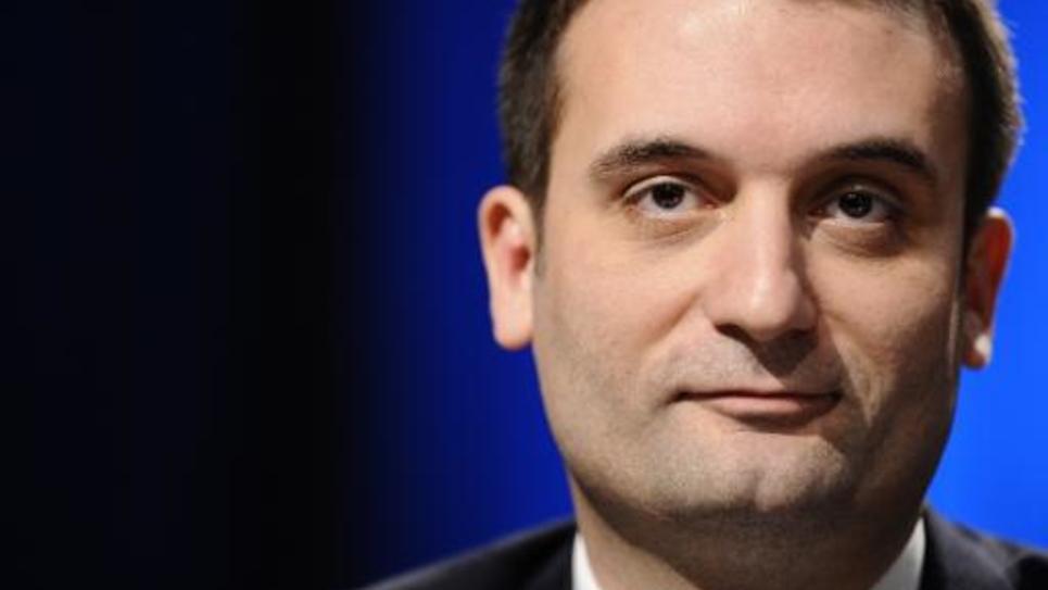 Le vice-président du Front national Florian Philippot à une conférence de presse le 9 mars 2015