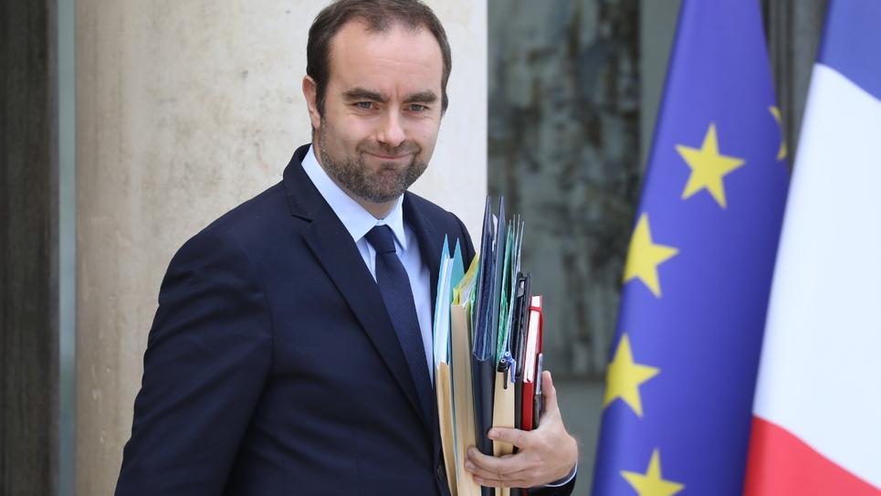Le ministre des Collectivités Sébastien Lecornu, le 2 octobre 2019 à l'Elysée