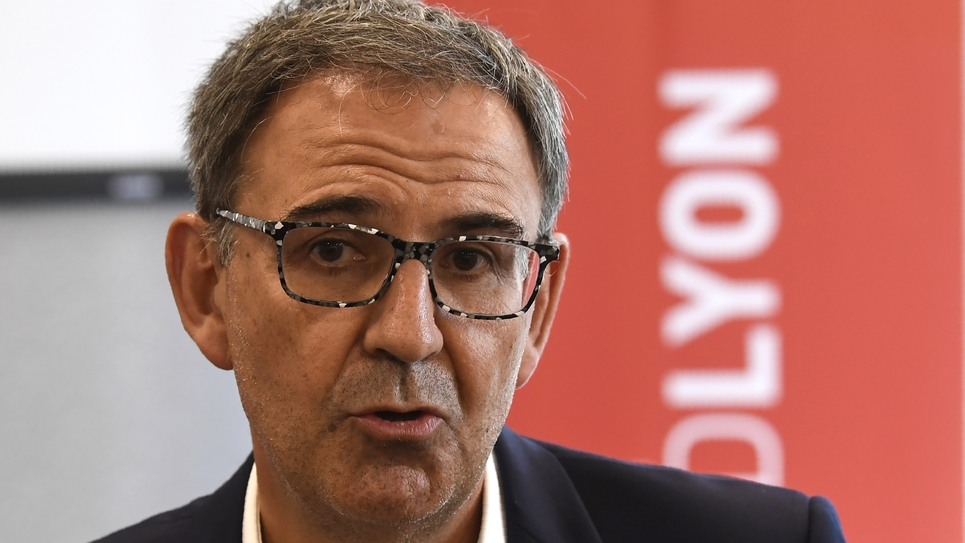 David Kimelfeld, président de la métropole de Lyon, le 18 septembre 2018 à Lyon