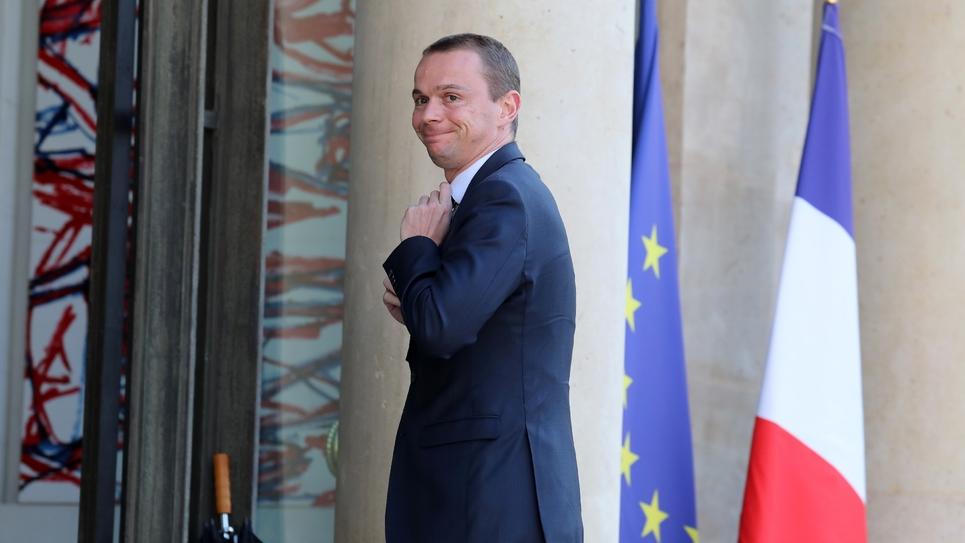 Le secrétaire d'Etat à la fonction publique Olivier Dussopt à Paris le 27 juin 2018