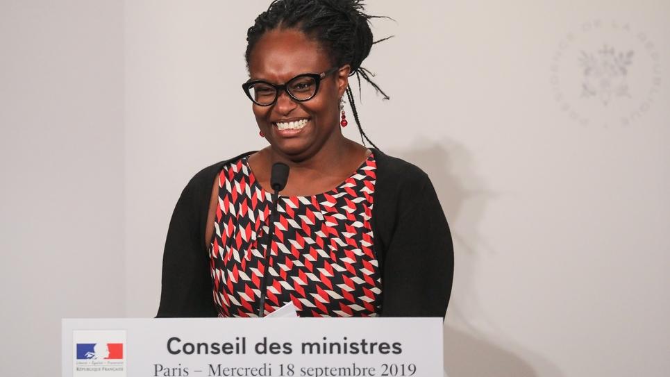 La porte-parole du gouvernement, Sibeth Ndiaye, lors d'une conférence de presse le 18 septembre 2019 à Paris