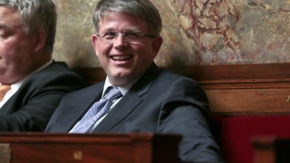 Le député UMP alsacien Patrick Hetzel, le 9 juillet 2014 à l'Assemblée nationale