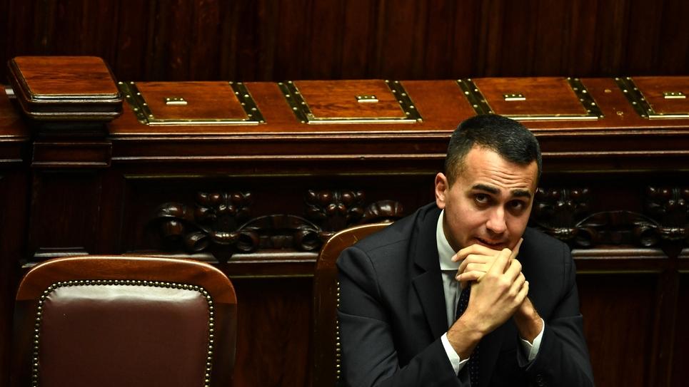 Le vice-Premier ministre italien Luigi Di Maio au Parlement à Rome, le 29 décembre 2018