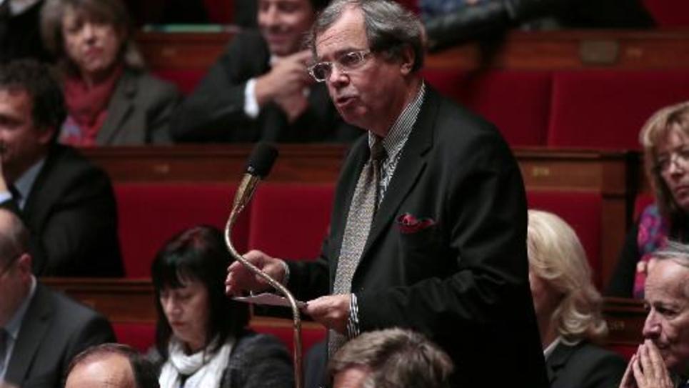 Le député radical de gauche (RRDP) Alain Tourret, le 5 novembre 2013 lors de la séance des questions à l'Assemblée nationale