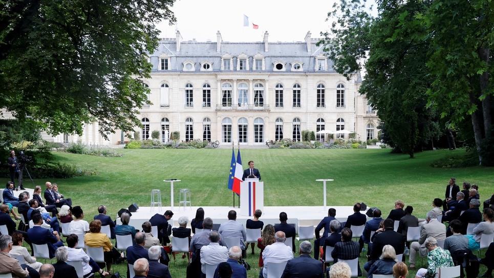 Intervention du président de la République devant la Convention citoyenne pour le climat, le 29 juin 2020 à l'Elysée