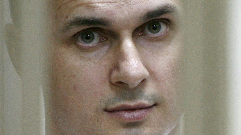(ARCHIVES) Photo prise le 22 juillet 2015 du réalisateur ukrainien Oleg Sentsov lors d'une audience au tribunal militaire de Rostov-on-Don.