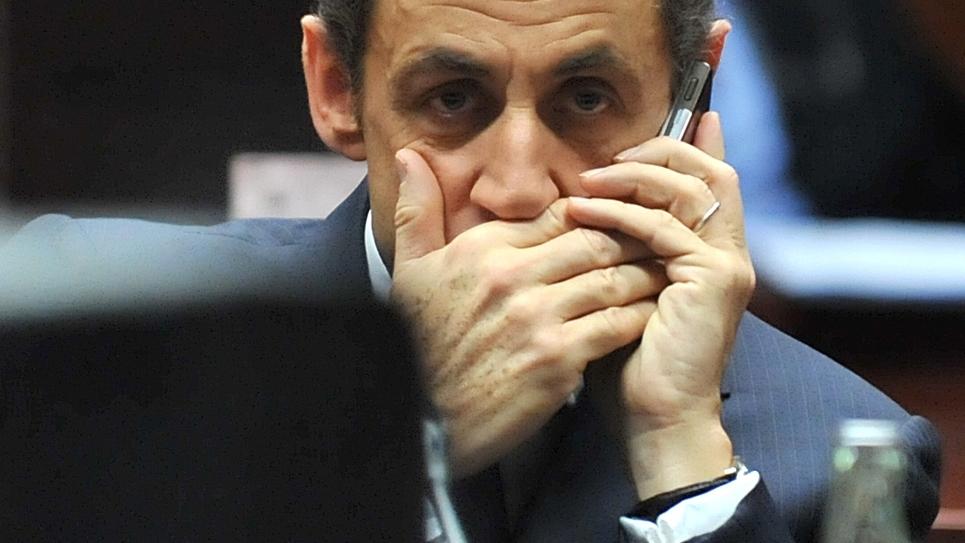 Nicolas Sarkozy à Bruxelles le  11 décembre 2009