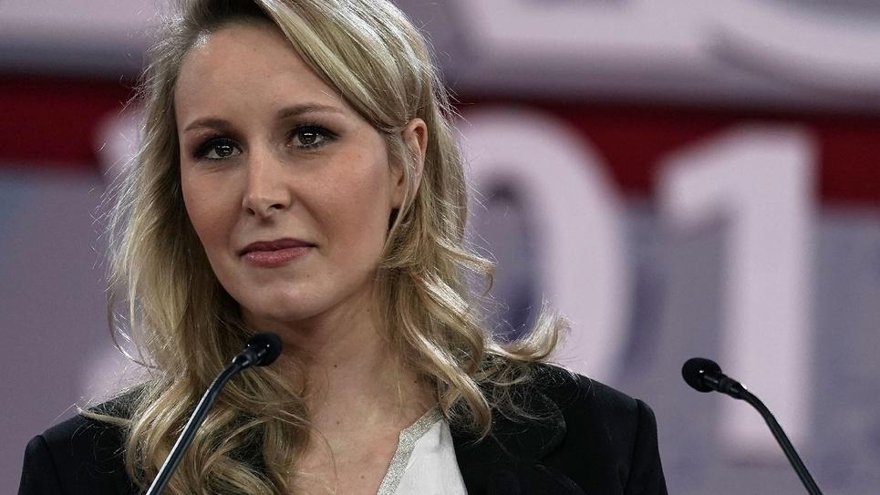 Marion Maréchal-Le Pen le 22 février 2018 lors d'une conférence de l'American Conservative Union aux Etats-Unis à National Harbor, Maryland.