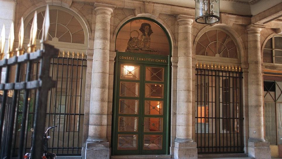 L'entrée du Conseil Constitutionnel à Paris.