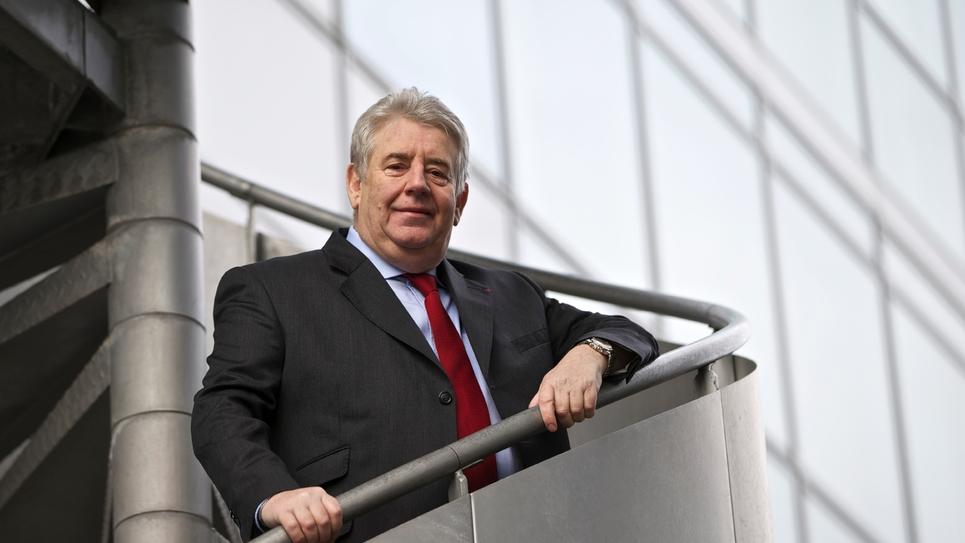 Le maire (LREM) de Besançon Jean-Louis Fousseret, le 21 février 2013 dans sa ville