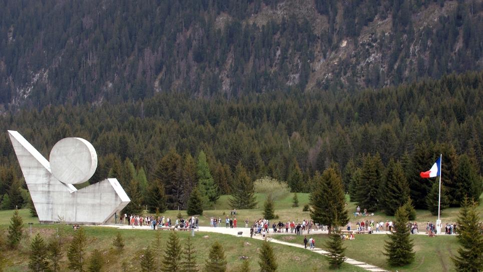 Le monument de la résistance sur le Plateau des Glières en mai 2017