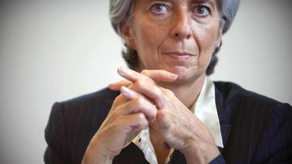 L'ex-ministre de l'Économie Christine Lagarde (2007-2011) à Paris le 16 octobre 2008