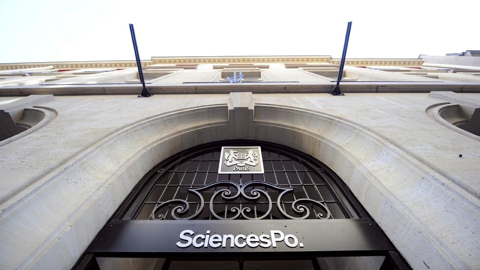 L'entrée de Sciences Po à Paris, le 15 janvier 2009