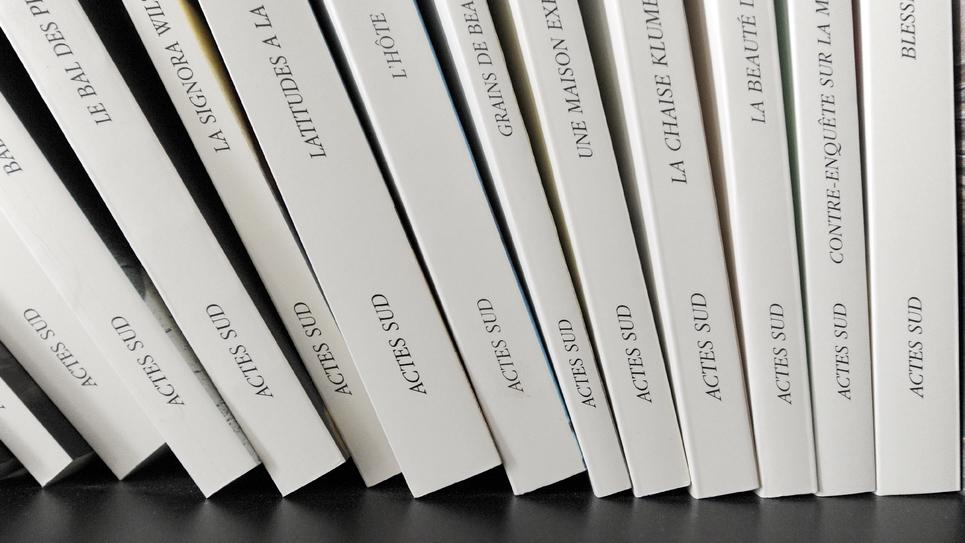 Détail de livres publiés dans les éditions Actes Sud, le 25 février 2009 à Arles