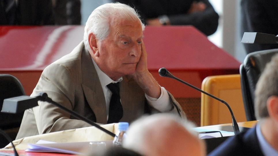 L'ancien maire de Puteaux Charles Ceccaldi-Raynaud au Conseil général des Hauts-de-Seine à Nanterre, en octobre 2009