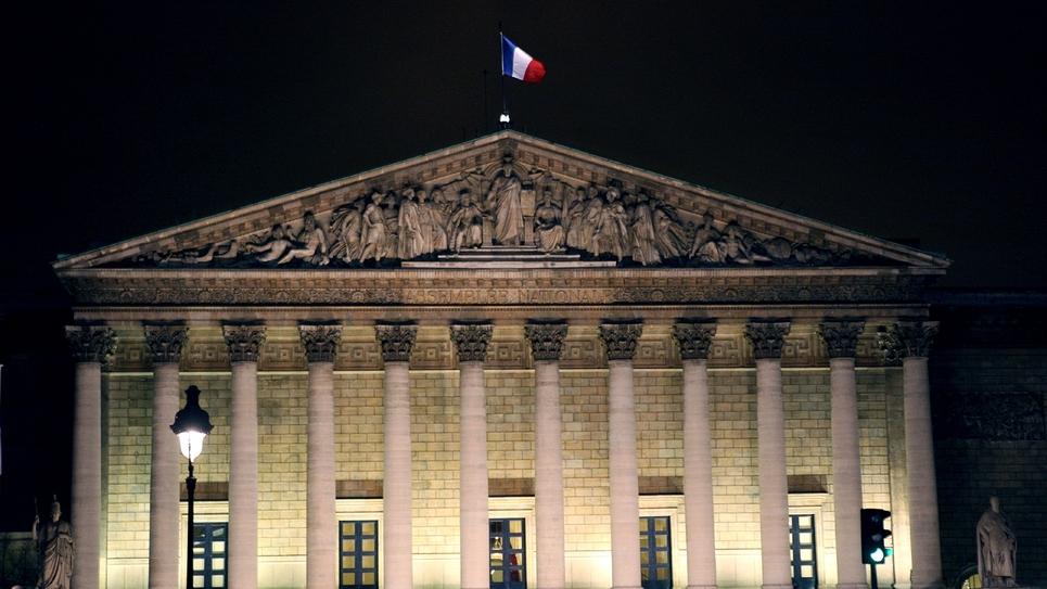 L'Assemblée nationale à Paris le 19 avril 2010