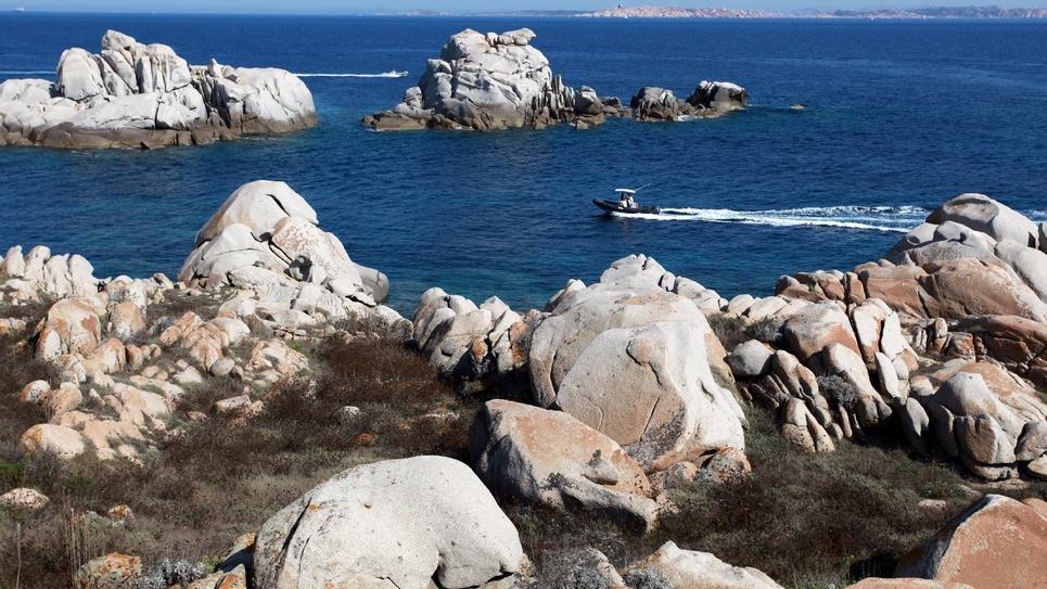 L'archipel des Lavezzi, en Corse, le 25 août 2011