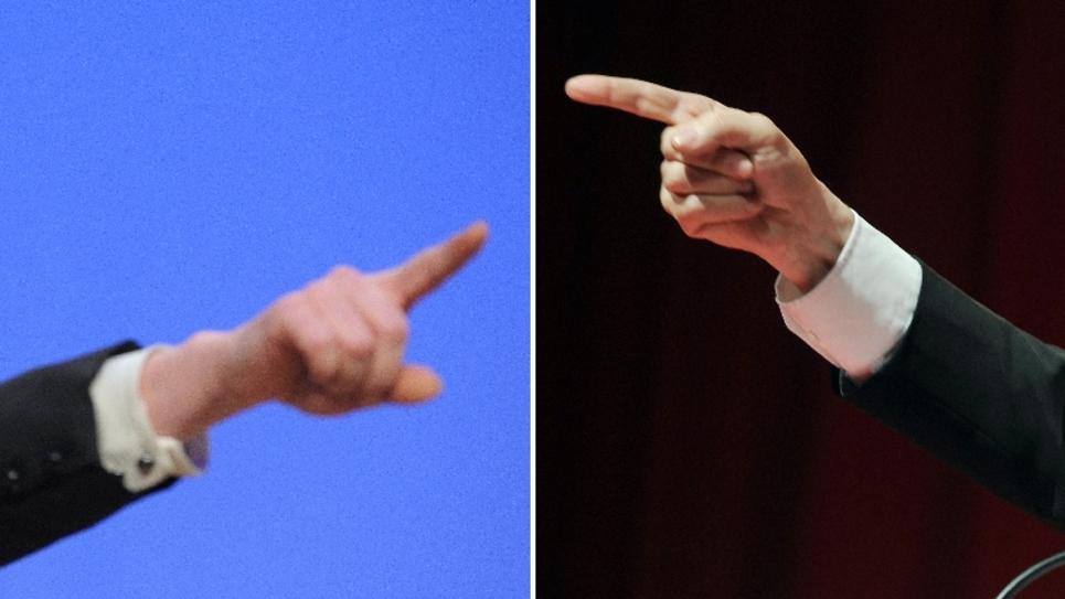 Combinaison des portraits de Marine Le Pen et de Jean-Luc Mélenchon réalisée le 23 février 2012