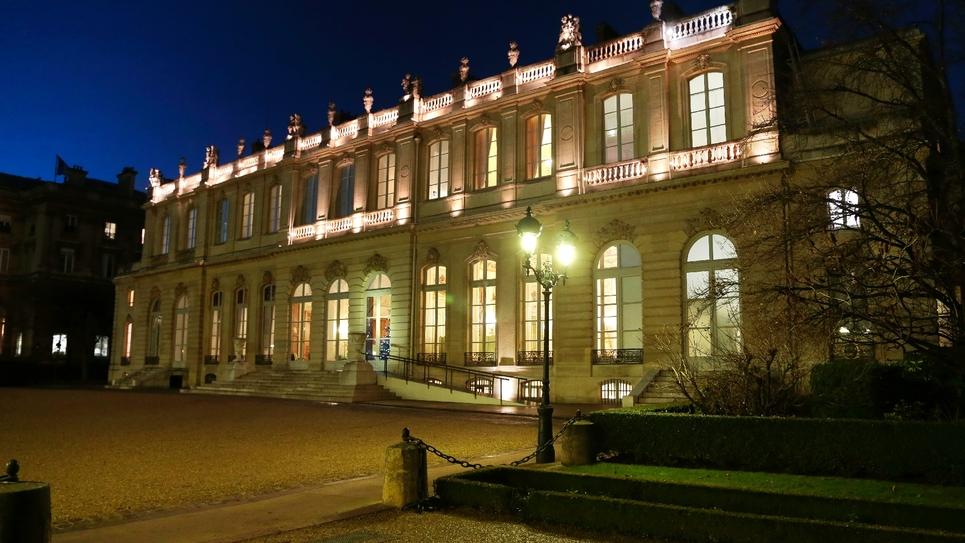 """L'Hôtel de Lassay vu du """"Jardin des quatre colonnes"""""""