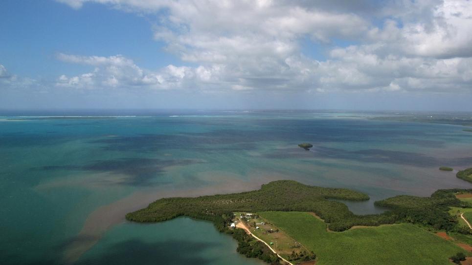 Vue aérienne de la Guadeloupe, en 2009
