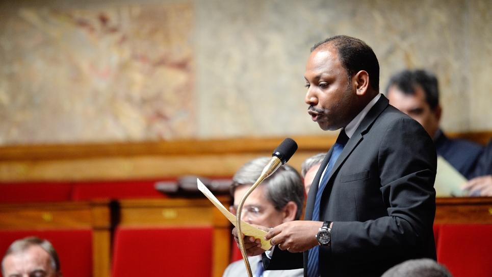 Le député de La Réunion Thierry Robert à l'Assemblée le 16 juillet 2013 à Paris