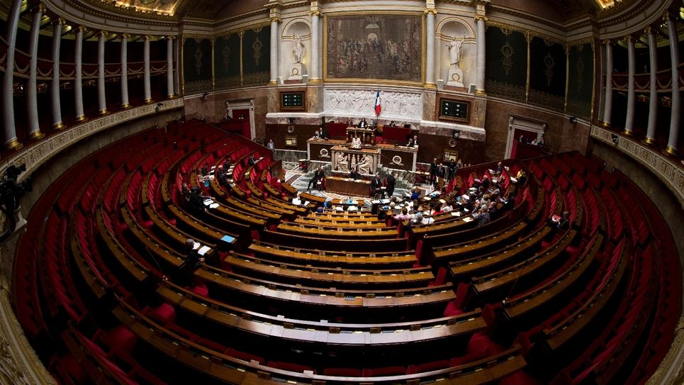 L'hémicycle de l'Assemblée nationale, le 7 octobre 2013 à Paris