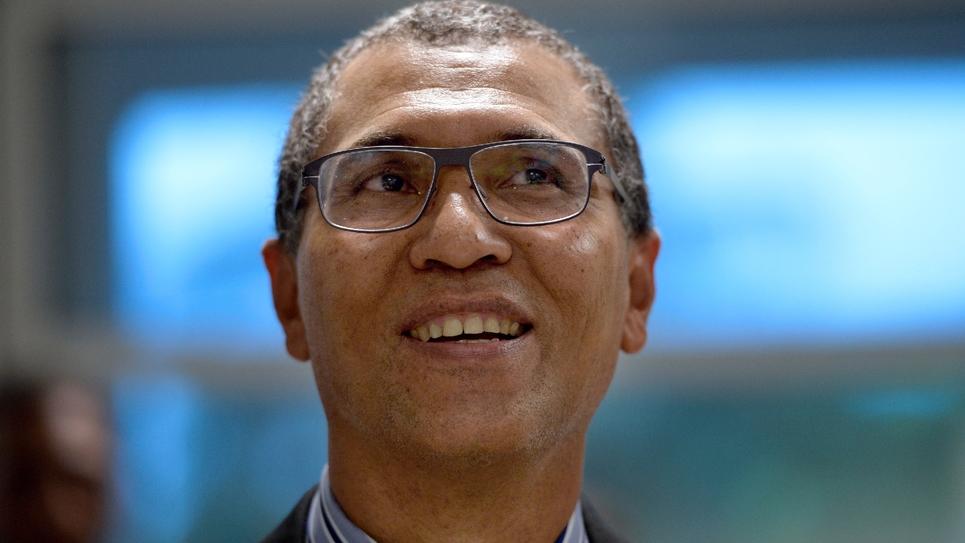 Le maire de Pointe-à-Pitre, Jacques Bangou, le 17 octobre 2013 en Guadeloupe