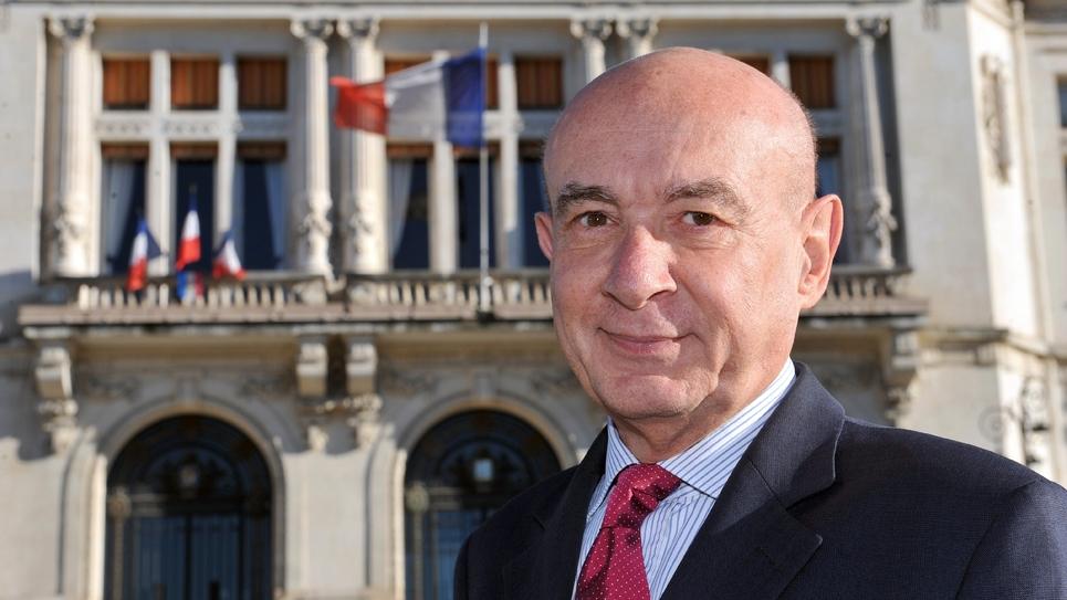 Le maire de Vichy, Claude Malhuret le 17 janvier 2014 à Vichy