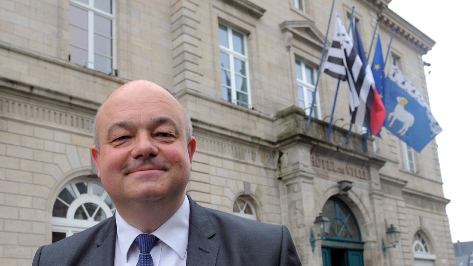 Le maire LR de Quimper, Ludovic Jolivet à Quimper, le 6 avril 2014