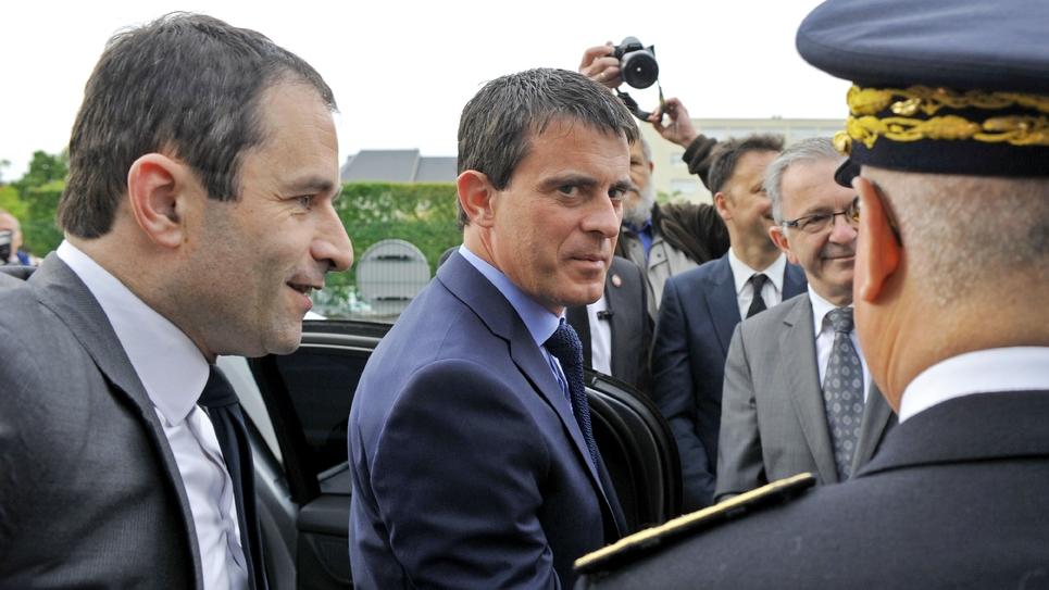 Benoît Hamon et Manuel Valls le 23 juin 2014 à  Blois