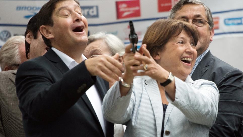 Patrick Kanner et Martine Aubry, le 6 septembre 2014 à Lille