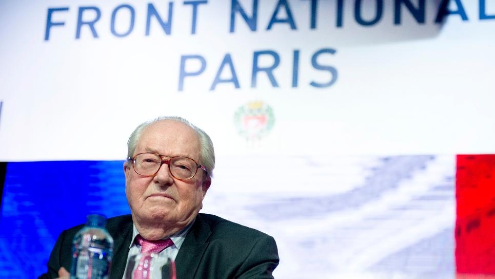 Le président d'honneur du Front national Jean-Marie Le Pen à Paris le 25 janvier 2015