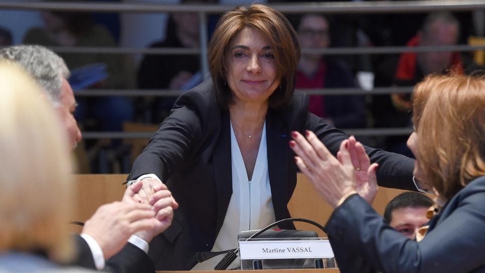Martine Vassal lors de son élection à la tête du conseil départemental des Bouches-du-Rhône, en avril 2015